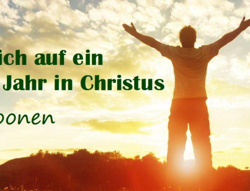 Freue dich auf ein wunderbares Jahr in Christus