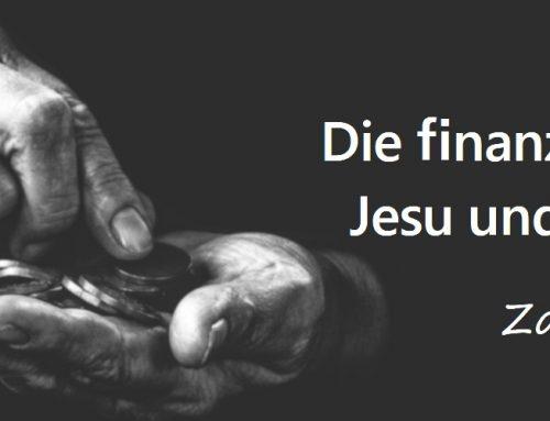 Die finanzielle Leitlinie Jesu und der Apostel