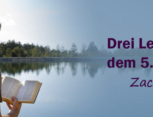 Drei Lektionen aus dem 5. Buch Mose (Deuteronomium)